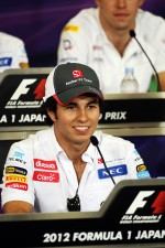 Sergio Perez, Sauber in the FIA Press Conference