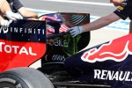 Red Bull Racing RB8 rear wing with flow-vis paint