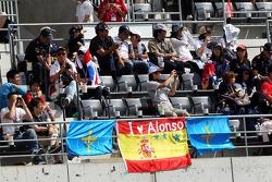 Banners for Fernando Alonso, Ferrari