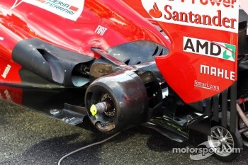 Ferrari rear wheel and exhaust detail