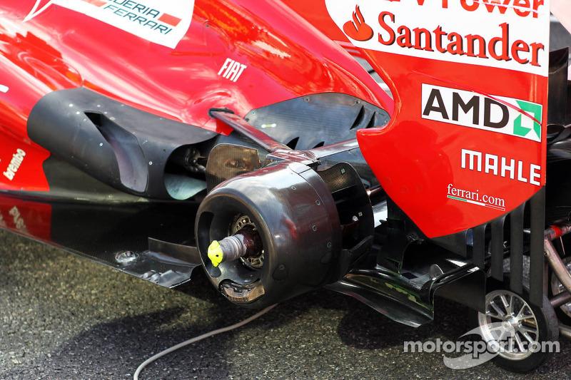Ferrari rear wheel and exhaust detail