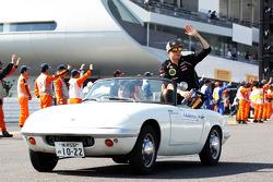 Kimi Raikkonen, Lotus F1 Team on the drivers parade