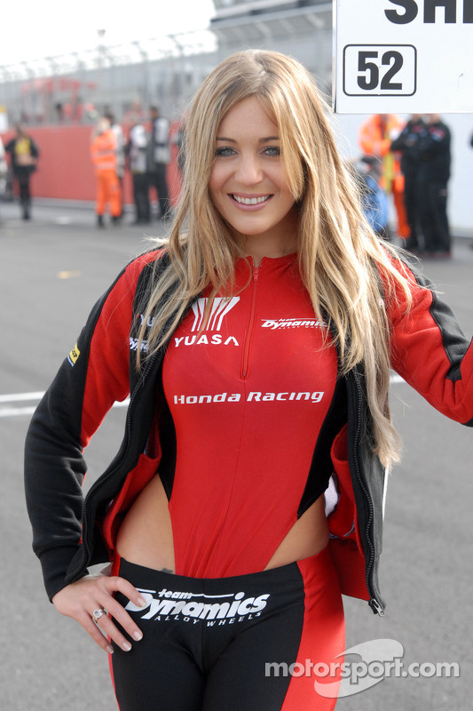 Honda Yuasa Racing Grid Girl at Silverstone