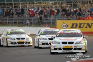 BTCC Series in action racing