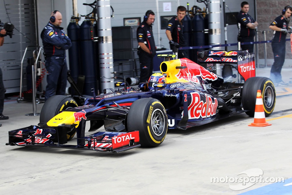 Mark Webber, Red Bull Racing in the pits