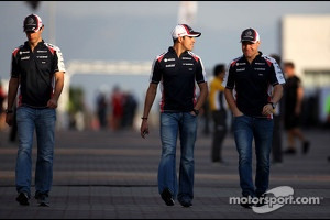 Bruno Senna, Williams F1 Team, Pastor Maldonado, Williams F1 Team and Valtteri Bottas, Williams F1 Team