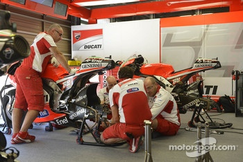 Ducati crew members