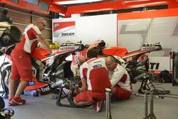 Ducati crew members