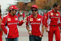 Felipe Massa, Ferrari with Fernando Alonso, Ferrari