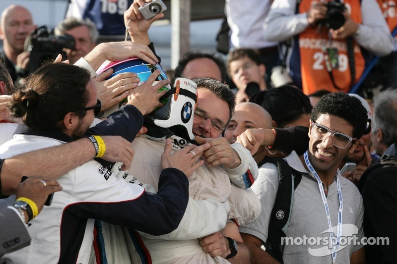 Race winner and 2012 champion, Bruno Spengler, BMW Team Schnitzer BMW M3 DTM