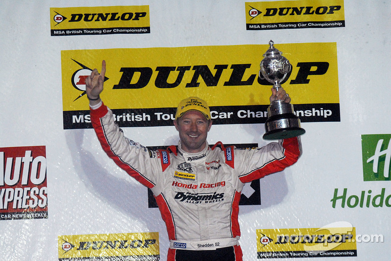 2012 champion Gordon Shedden celebrates
