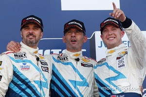 Yvan Muller, Alain Menu, and Robert Huff