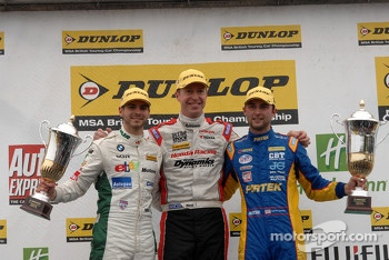 Round 28 Podium: 1st Matt Neal, 2nd Andrew Jordan, 3rd Tom Onslow-Cole