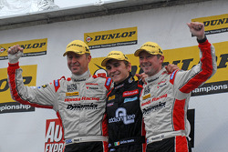 Round 29 Podium: 1st Aron Smith, 2nd Gordon Shedden, 3rd Matt Neal