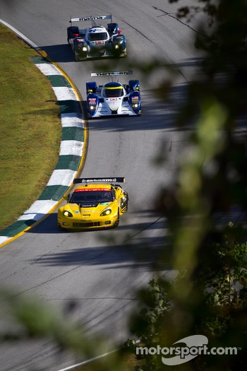 #3 Corvette Racing Chevrolet Corvette C6 ZR1: Jan Magnussen, Antonio Garcia, Jordan Taylor, #20 Dyson Racing Team Lola B11/66 Mazda: Tony Burgess, Mark Patterson, Chris McMurry, #16 Dyson Racing Team Lola B12/60 Mazda: Chris Dyson, Guy Smith, Steven Kane