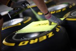 Pirelli tyres marked for Nico Hulkenberg, Sahara Force India F1