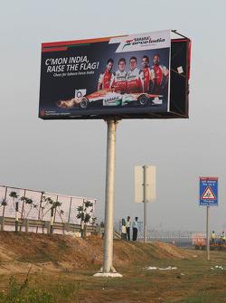 A Sahara Force India F1 Team billboard