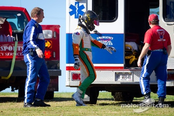 Martin Scuncio after his crash