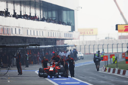 Marussia F1 Team of Timo Glock, Marussia F1 Team pushed down the pit lane