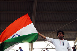 Fan with Indian flag