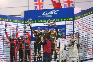 LMP1 private teams podium: winner Andrea Belicchi, Harold Primat, Cong Fu Chen