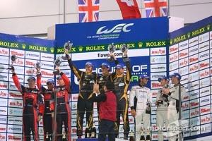 LMP1 private teams podium: winner Andrea Belicchi, Harold Primat, Cong Fu Chen