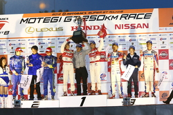 GT500 championship podium
