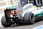 Nico Rosberg, Mercedes AMG F1 rear wing and rear diffuser detail