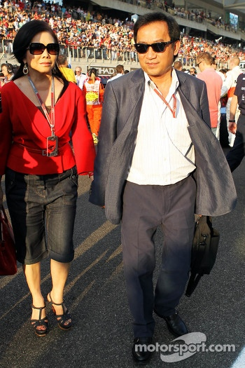 Chalerm Yoovidhya, Red Bull Racing Co-Owner on the grid