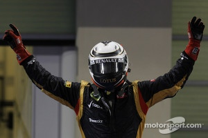 1st place Kimi Raikkonen, Lotus F1 Team