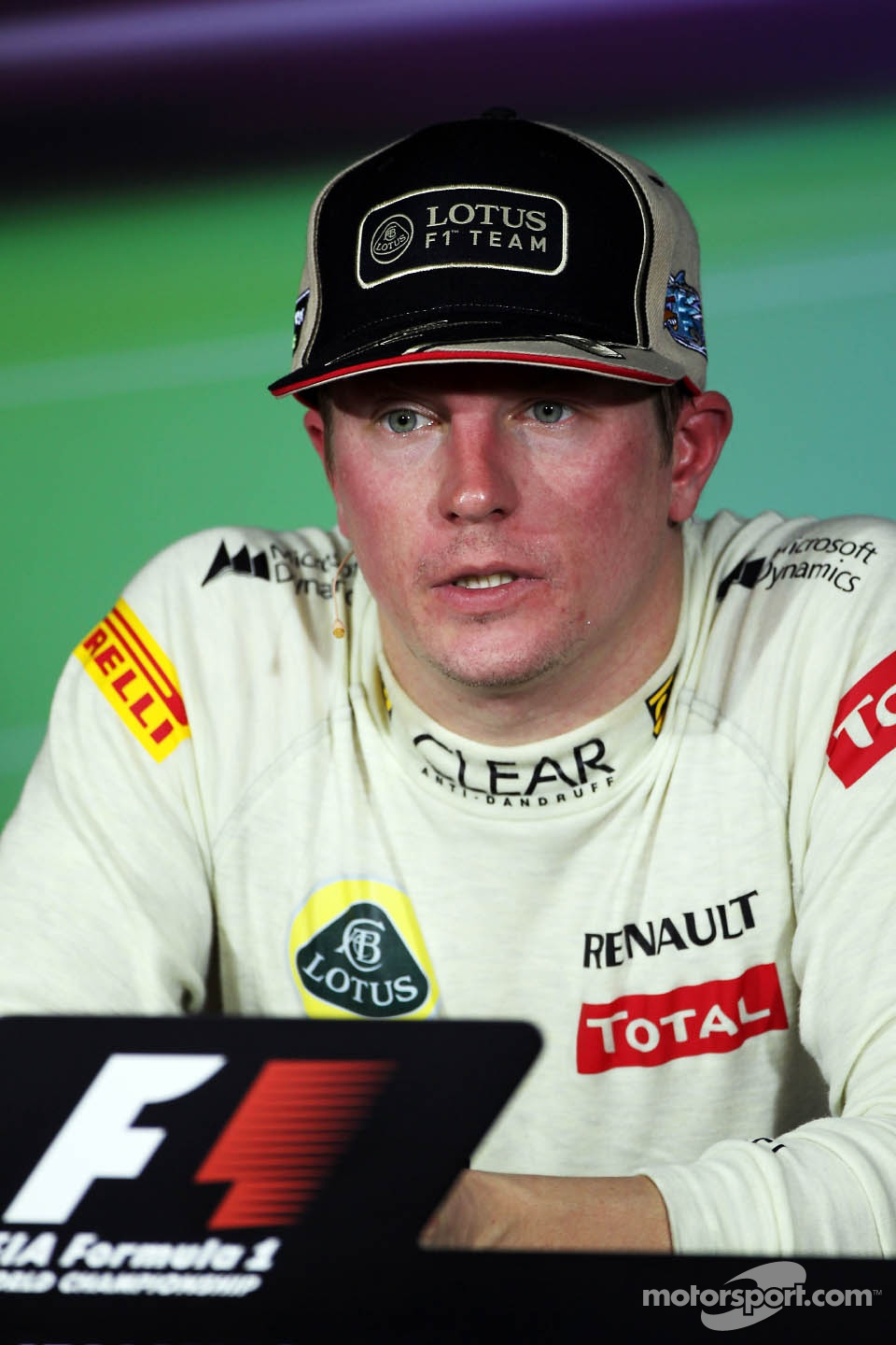 Race winner Kimi Raikkonen, Lotus F1 Team in the FIA Press Conference