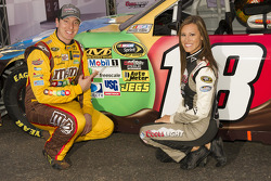 Pole winner Kyle Busch, Joe Gibbs Racing Toyota