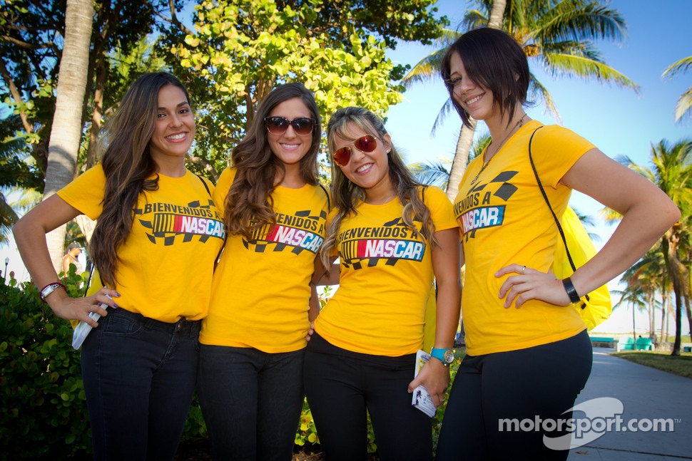 Charming NASCAR girls