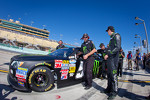 Pole winner Kyle Busch, Kyle Busch Motorsports Toyota after his qualifying run