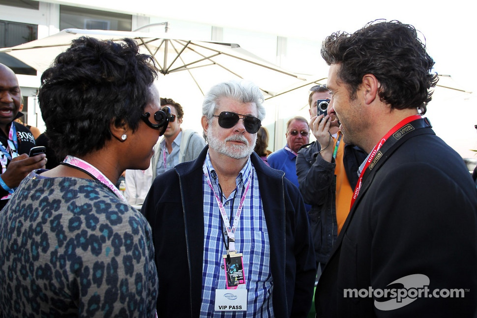 George Lucas, Star Wars Creator with his partner Mellody Hobson, and Patrick Dempsey, Actor
