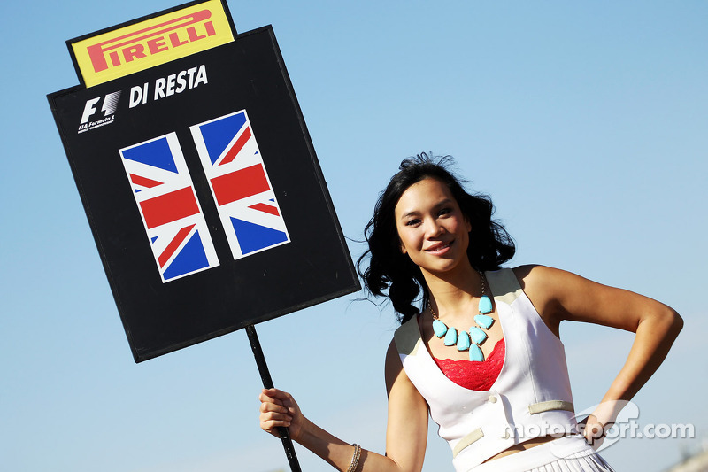 Grid girl for Paul di Resta, Sahara Force India F1