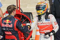 Sebastian Vettel, Red Bull Racing and Lewis Hamilton, McLaren Mercedes