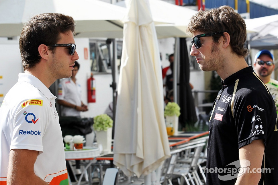 Jules Bianchi, Sahara Force India F1 Team Third Driver with Romain Grosjean, Lotus F1 Team