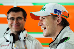 Nico Hulkenberg, Sahara Force India F1 with Bradley Joyce, Sahara Force India F1 Race Engineer