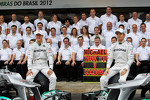 Michael Schumacher, Mercedes AMG F1 and Nico Rosberg, Mercedes AMG F1 at a team photograph