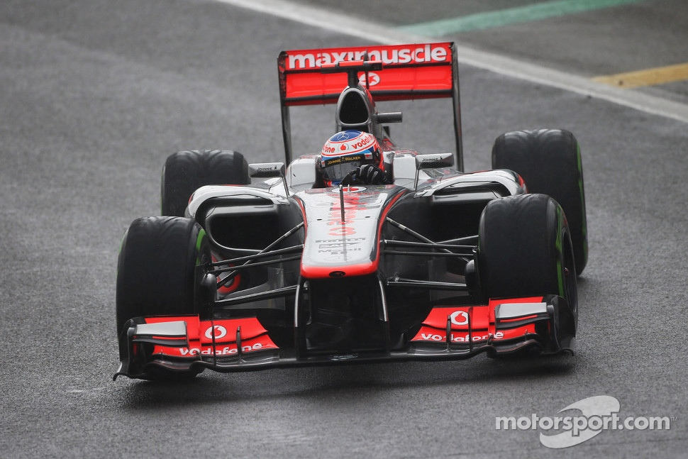 Race winner Jenson Button, McLaren