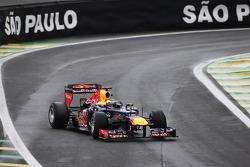 Sebastian Vettel, Red Bull Racing exits the pits