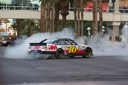 Greg Biffle does a burnout