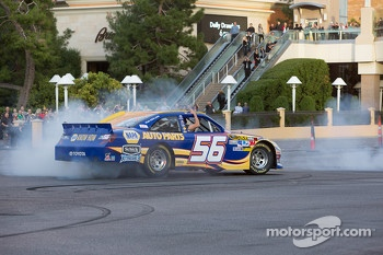 Martin Truex Jr. does a burnout