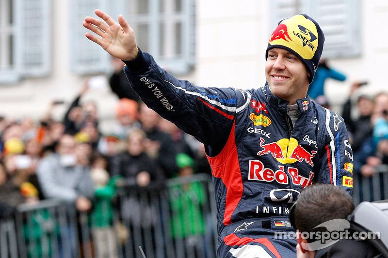 Sebastian Vettel, Red Bull Racing celebrates his world championship in Graz, Austria