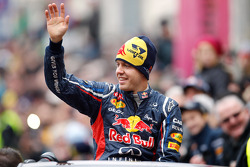 Sebastian Vettel celebrates world championship