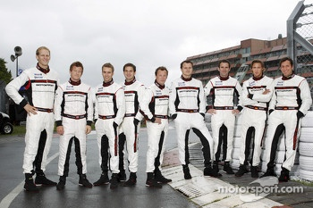 Porsche's official drivers, Jrg Bergmeister, Patrick Long, Timo Bernhard, Richard Lietz, Patrick Pilet, Marc Lieb, Romain Dumas, Marco Holzer, Wolf Henzler