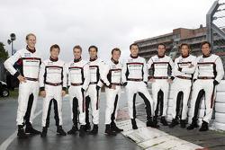 Porsche's official drivers, Jörg Bergmeister, Patrick Long, Timo Bernhard, Richard Lietz, Patrick Pilet, Marc Lieb, Romain Dumas, Marco Holzer, Wolf Henzler