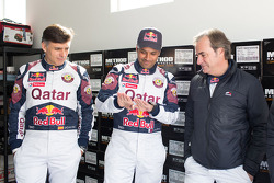 Lucas Cruz, Nasser Al-Attiyah and Carlos Sainz