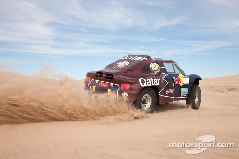 The Qatar Red Bull Rally Team buggy testing
